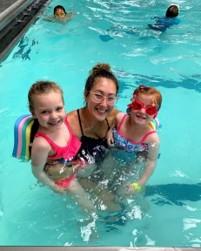 Swimming at Camp Lakeshore