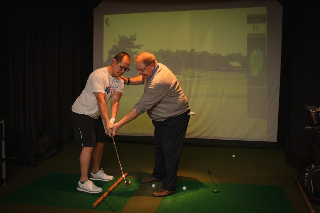 Golf Simulator at Lakeshore Sport & Fitness at Illinois Center