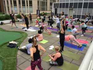Illinois Center Rooftop Group Workout